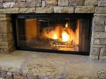 "Buy 36"" Fireplace Glass Door Set To Fit Heatilator Unit: Glassware & Drinkware - Amazon.com ? FREE DELIVERY possible on eligible purchases"
