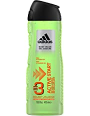 ADIDAS Active Start Male 3 Hair and Body Shower Gel and Shampoo 473 Milliliters
