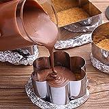 HULISEN 5 Pack Cake Ring, Stainless Steel 3 x 3