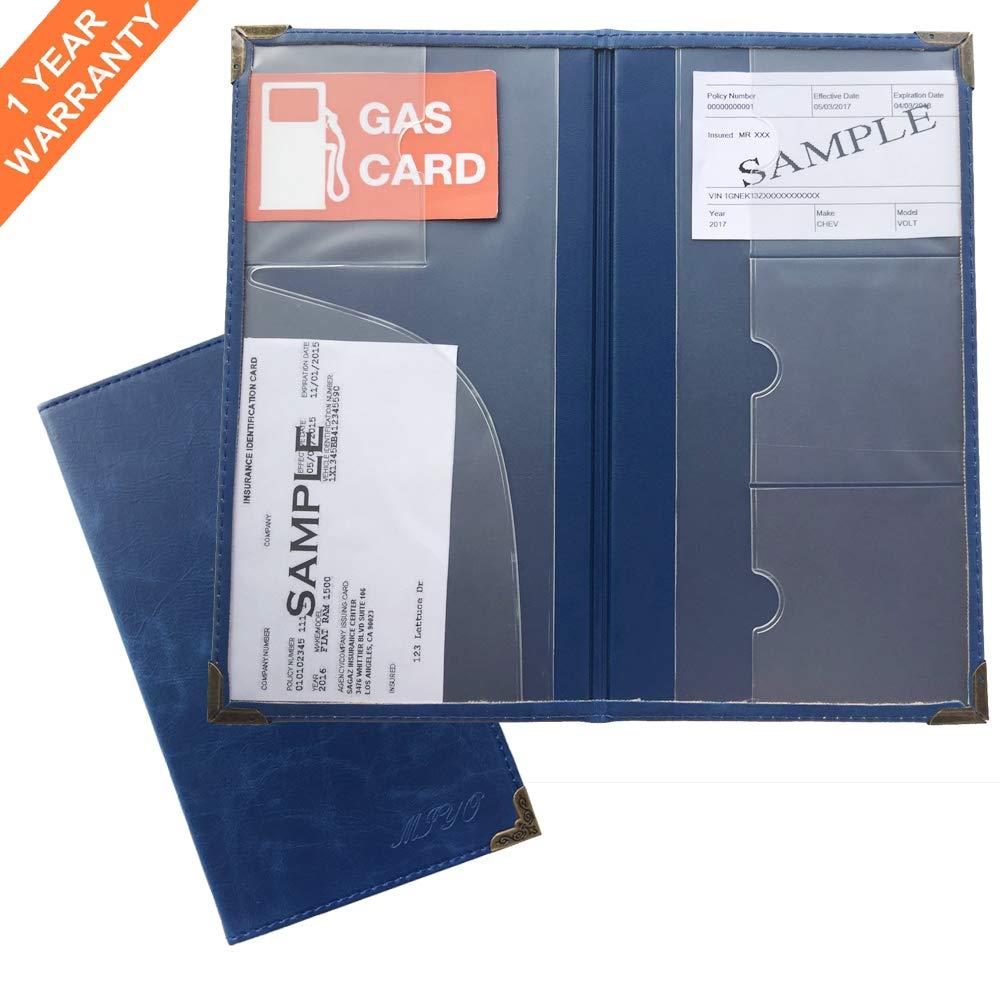 e1842ba0535c MIYO Car Registration Holder for Car Insurance Card and Vehicle ...