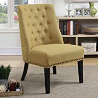 Coaster 902497-CO Upholstered Tufted Accent Chair, In Yellow