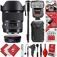 Sigma 20mm F1.4 ART DG HSM Lens for Nikon DSLR Cameras + 32GB 17PC Bundle for D810 D750 D610 D7500 D7200 D7100 D7000 D500 D5600 D5500 D5300 D5200 D5100 D3400 D3300 D3200 and D3100