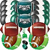 Philadelphia Eagles Football Party Ultimate 32pc Balloon Pack Green Black