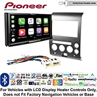 Volunteer Audio Pioneer AVH-W4400NEX Double Din Radio Install Kit with Wireless Apple CarPlay, Android Auto, Bluetooth Fits 2006-2007 Nissan Armada, Titan