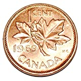 1969 1 Cent Canada Copper Nice Uncirculated Canadian Penny