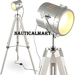 MOJO Floor lamp Table light Tripod Floor lamp Tripod Urban industrial design lamp Sel-l31 (White, floor lamp)