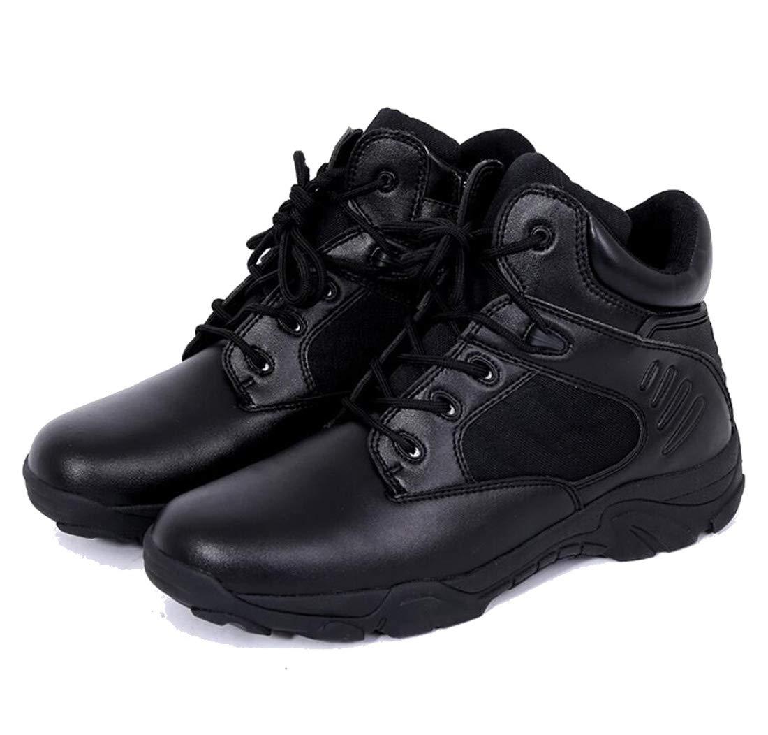DANDANJIE Männer Wanderschuhe Low-Top-Wüsten Stiefel Kampfstiefel Im Freien Wanderstiefel,schwarz,39EU