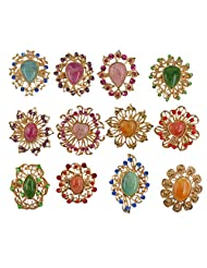 12pcs/lot Mixed Crystal Rhinestone Brooches Pins Bridal Wedding Bouquet DIY