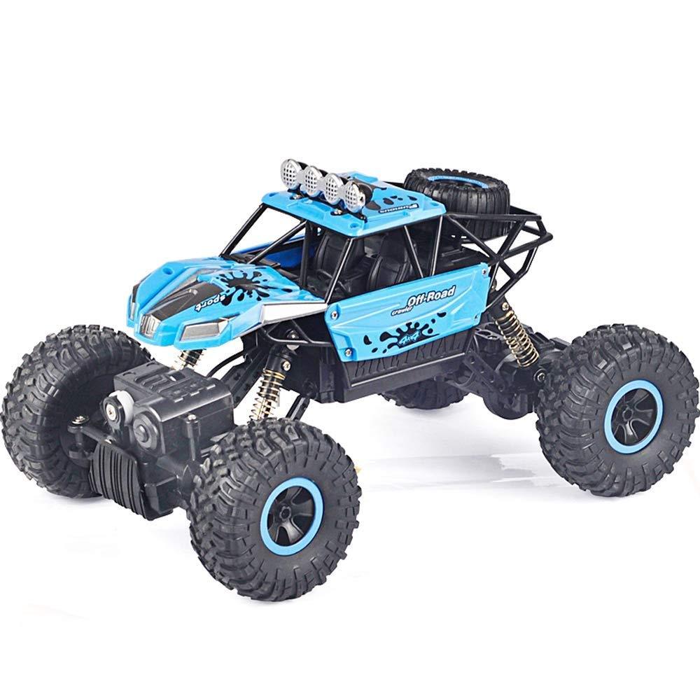 IBalody 1 16 Große Fernbedienung Auto SUV Lade Fernbedienung Auto Kinder Spielzeug Junge Auto Elektro Allradantrieb Klettern Fahrzeug Geschenke für Kinder 3+ (Farbe   rot, Größe   2-Battery) Blau 1-Battery