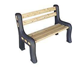 RTS Home Accents DIY Plastic Bench Ends, Black (Wood & Screws Sold Separately)