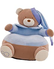 Fityle Lovely Crown Bear Children Seat Sofa Bean Bag Cover Kids Chair Furniture - Only Cover - #2 Blue, 20x20 Inch