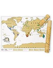 Luckies Of London, LUSCR, Mappa del Mondo - Regalo da viaggio ideale per Amanti di Viaggi – Gratta la Tua Via Nel Mondo, 82.5 x 59.4 cm