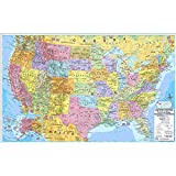 (Price/EA)Kappa Map Group / Universal Maps UNI2517627 Us & World Politcal Rolled Map Set 40 X 28