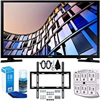 Samsung UN24M4500 23.6 720p Smart LED TV (2017) + Slim Flat Wall Mount Kit Ultimate Bundle for 19-45 Inch TVs + SurgePro 6-Outlet Surge Adapter w/ Night Light + LED TV Screen Cleaner