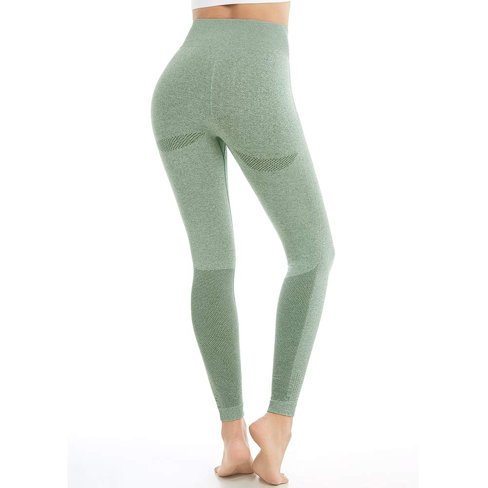84eb5ebb38d3a Aoxjox Yoga Pants for Women High Waisted Gym Sport Ombre Seamless Leggings  product image