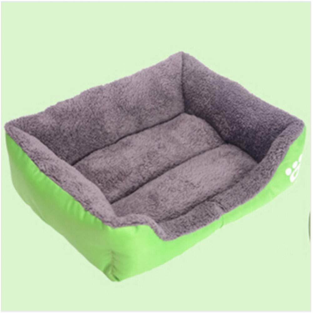 CZHCFF Pure color dog bed soft PP cotton padded puppy cat sofa bed warm pet pad rectangular cat dog pad waterproof pet house