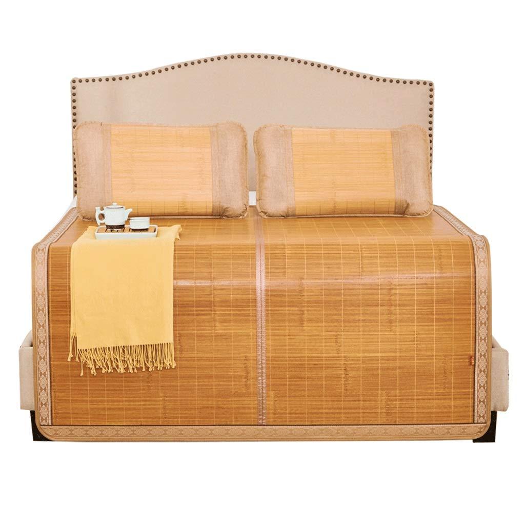 WXH Bambusmatte Sommer Familie doppelseitig faltbar Einzel Schüler Schlafmatte (größe   1m×1.9m)  1.2×1.95m
