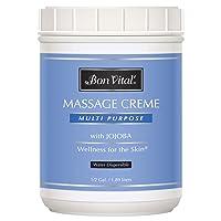 Bon Vital' Multi-Purpose Massage Crème, Professional Massage Cream with Aloe Vera...