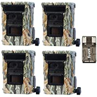 4x Browning DEFENDER 940 Wifi and Bluetooth Trail Game Cameras (20MP) | BTC10D | with Focus USB Card Reader