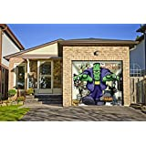 outdoor halloween holiday garage door banner cover mural dcoration and friends halloween garage door banner dcor sign 8u0027x 9u0027