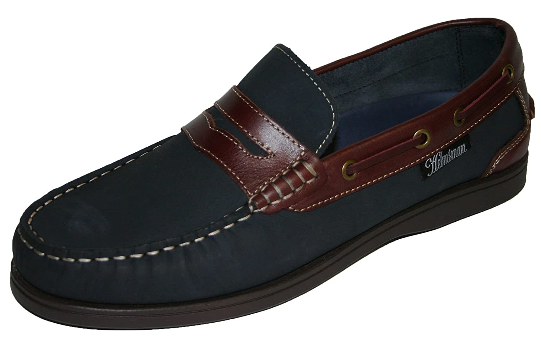 Seafarer Helmsman vela piel para hombre slip on Deck Shoes tamaños 7 – 12 44 EU|Azul