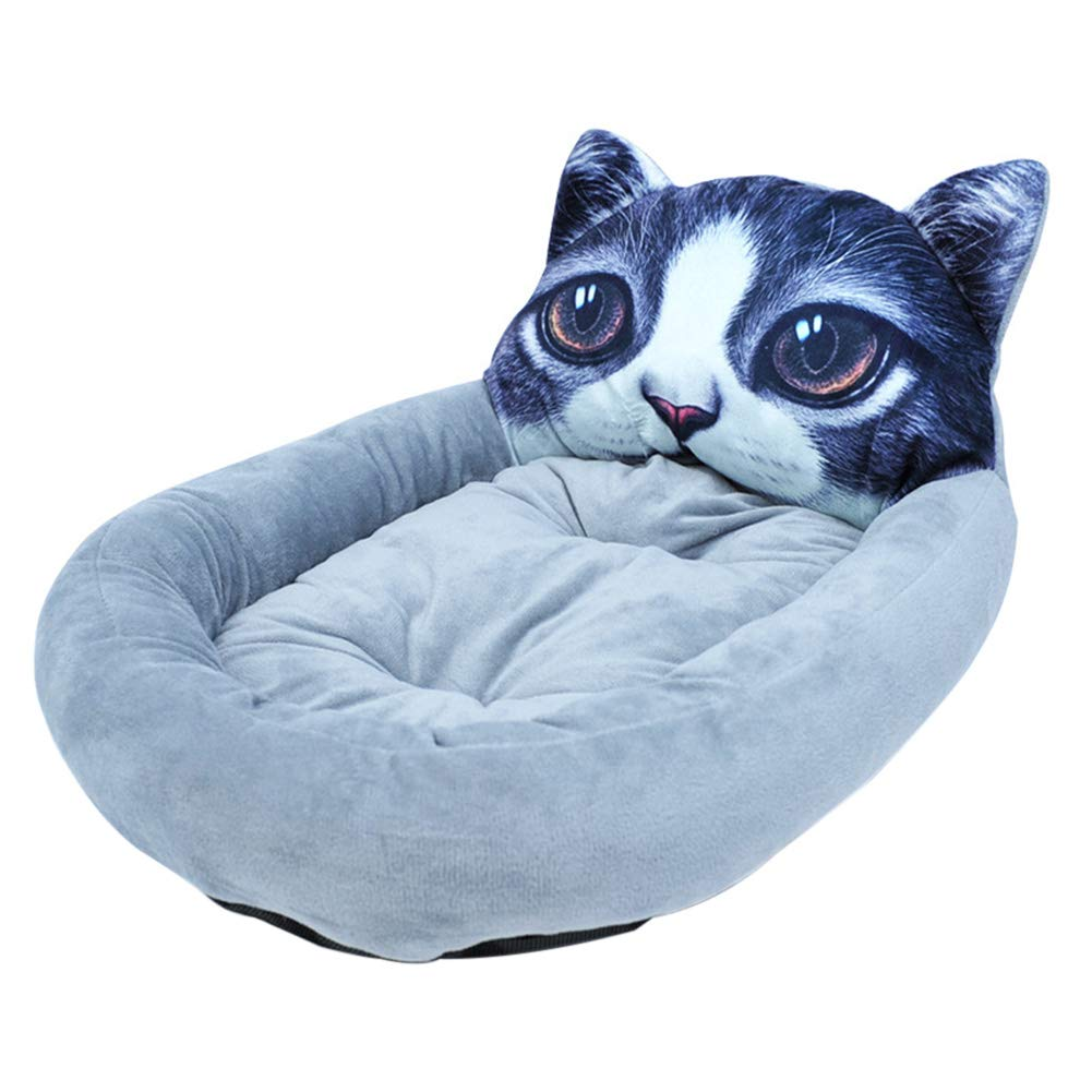 3  Large 3  Large geSlnsXhil Pet Dog Nest, Cat Panda Head Square 3D Pet Nest Winter Pet Puppy Dog Warm Sleeping Cushion Bed