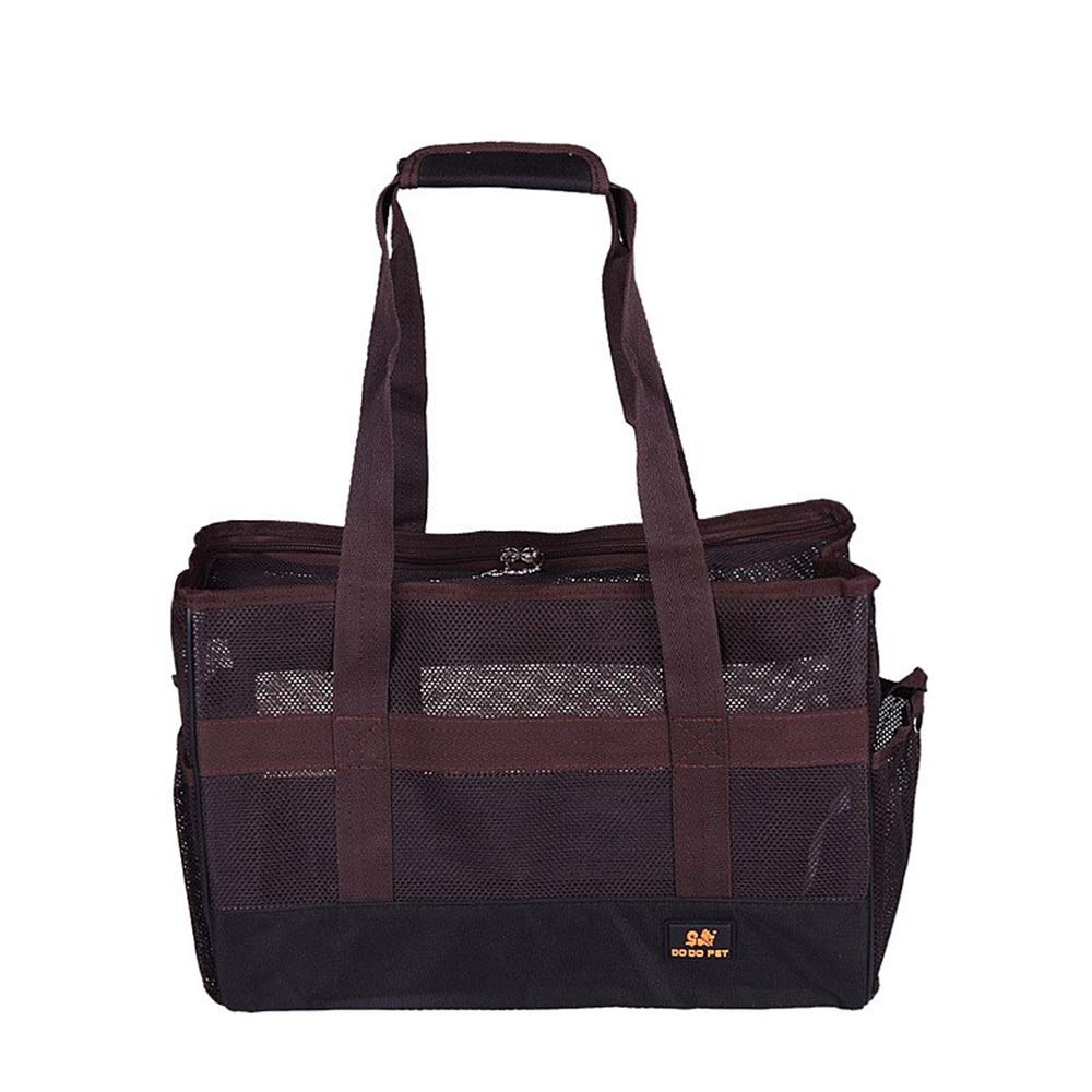 Brown US 10 Brown US 10 HEJUNF CA Summer Breathable Dog cat Bag Out Portable pet Bag (color   Brown, Size   US 10)
