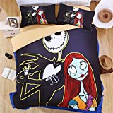 Lotus Karen Gorgeous 5D Nightmare before Christmas Bedding Sets,4-piece inclueds 1Duve Cover,1Flat Sheet,2Pillow Shames,Twin Full Queen King Size