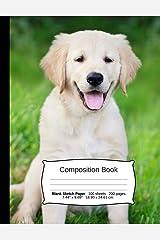 "Dog Composition Notebook, Blank Sketch Paper: Sketchbook Drawing Art Paper, 200 pages, 7.44"" x 9.69"" (Dog Series) Paperback"