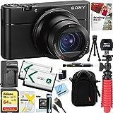 Sony RX100 V 20.1 MP Cyber-shot Digital Camera w/ 3 OLED DSC-RX100M5A + 64GB SDXC Memory Dual Battery Kit + Accessory Bundle