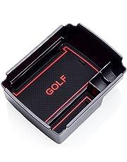 RUIYA Consola central con reposabrazos personalizada para 2016 2017 2018 Golf 7, bandeja de almacenamiento