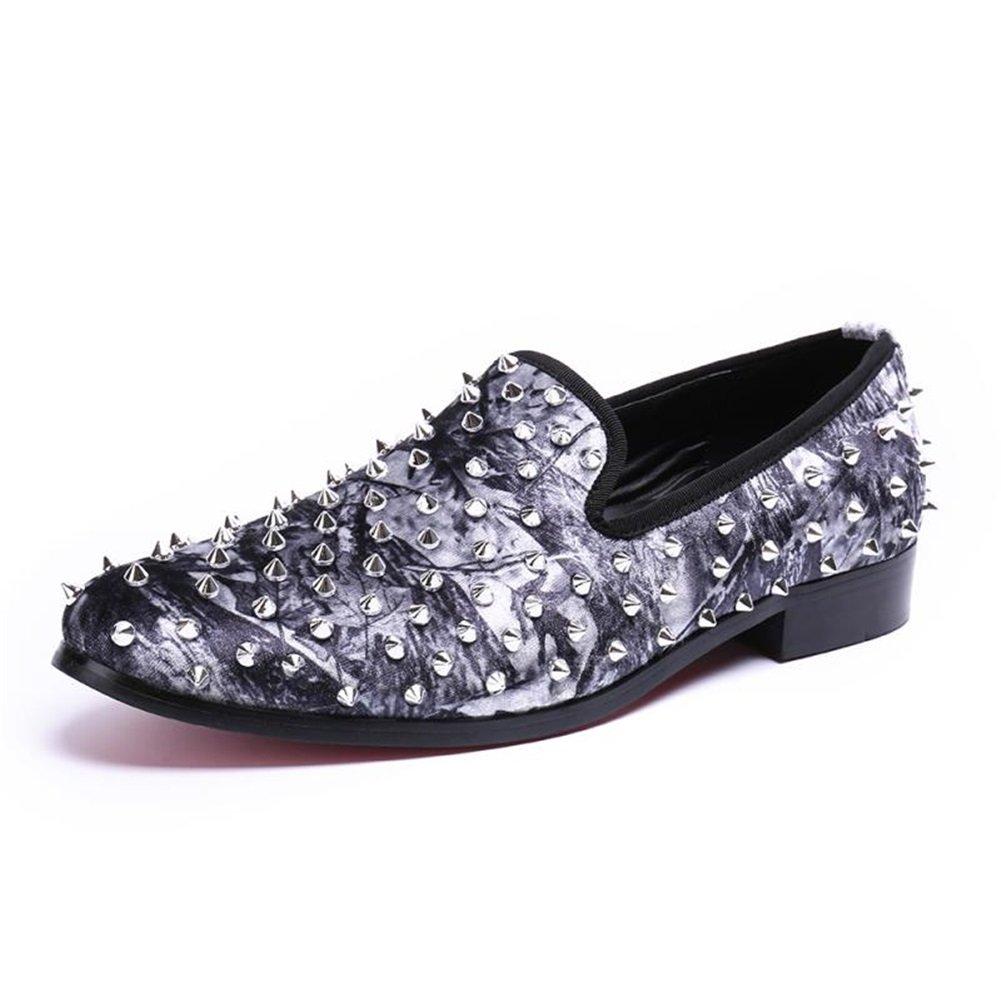 CAI Herren Neuheit Loafers 2018 Sommer Frühling Herbst Winter Leder Breathable Mens Fashion Nieten Loafers Low-Top-Faule Schuhe Loafers & Slip-Ons (Farbe   Weiß, Größe   38)