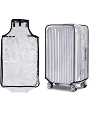 Bluecookies PVC Transparent Travel Luggage Protector Suitcase Cover 20'24''26''28''