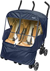 Manito Elegance Alpha Twin Stroller Weather Shield / Rain Cover (Navy)