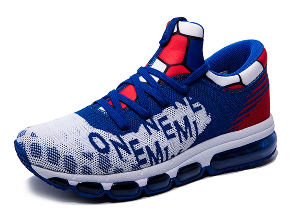 MT-onemix Men's Women's Letter Print Air Cushion Mesh Running Sneakers 8 D(M) US=Foot Length 10.23