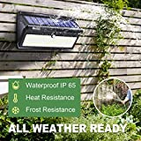 BAXIA Technology Solar Lights Outdoor, Wireless 100 LED Solar Motion Sensor Lights Waterproof Security Lighting Outdoor for Front