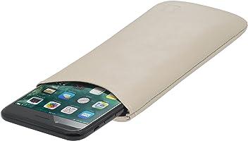 StilGut Pouch Custodia Smartphone Sleeve in Morbida Pelle di Nappa Misura L, Crema Nappa | Compatibile tra Gli Altri con Samsung Galaxy S7, Samsung S6 Edge ECC.