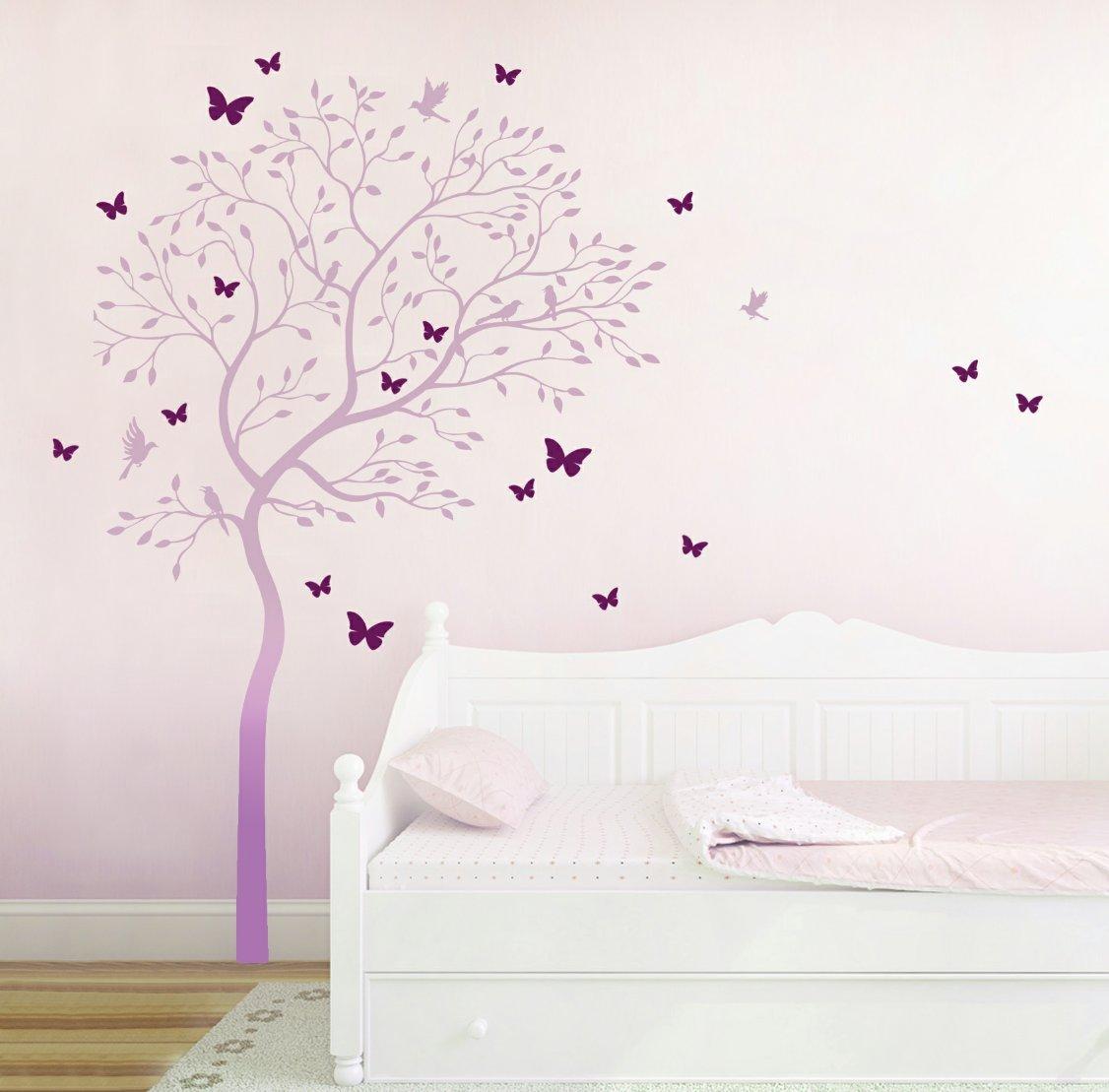 Wandtattoo Wandaufkleber Baum mit Kolibris Kolibris Kolibris und Schmetterlinge M1535 zweifarbig - ausgewählte Farbe  Türkis Helltürkis - ausgewählte Größe  XL 120cm breit x 175cm hoch B00YXYS7EA Wandtattoos & Wandbilder b403c0