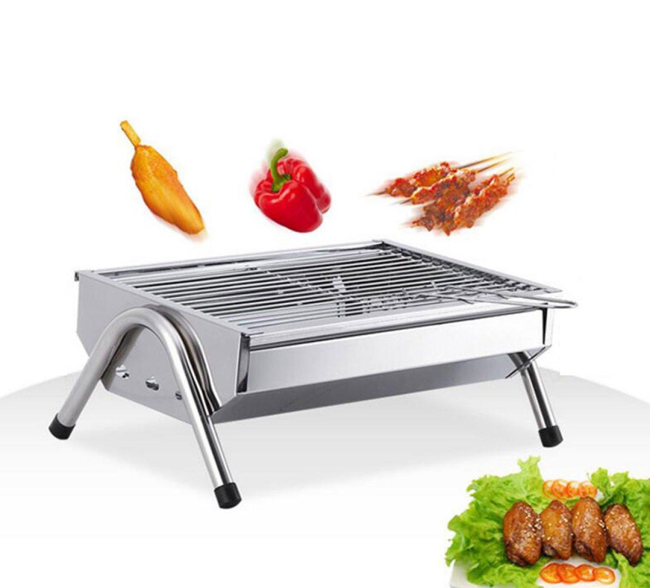Massives Edelstahl Tragbare Kohlegrill Im Freien Grill Hause Grill-Box