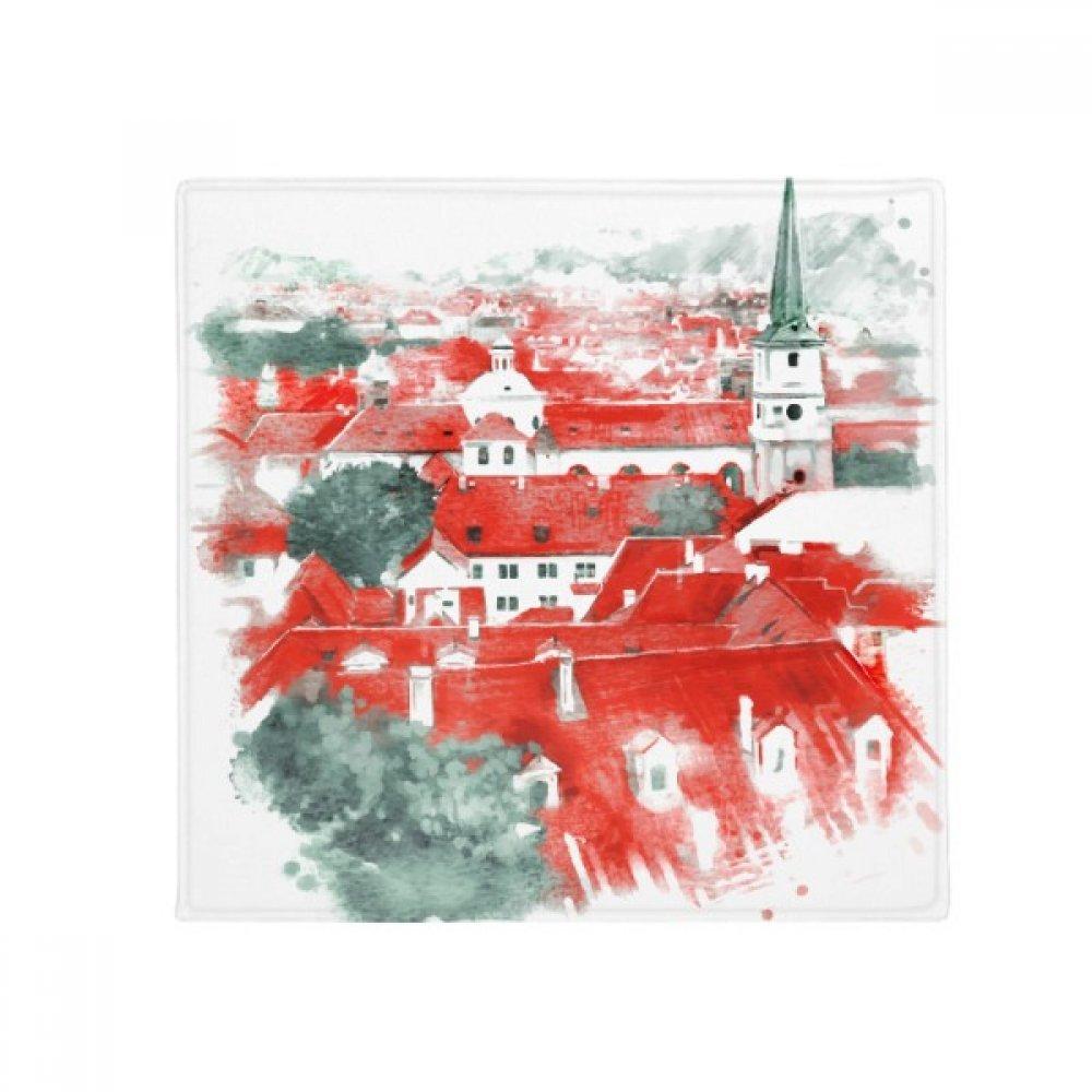 DIYthinker Red Roof Russia Building Painting Anti-Slip Floor Pet Mat Square Home Kitchen Door 80Cm Gift