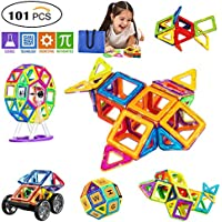 SVOC Magnetic Building Blocks, Magnetic Tiles Educational Toys for Boys/Girls, Stacking Blocks for Toddler/Kids (101Pcs)