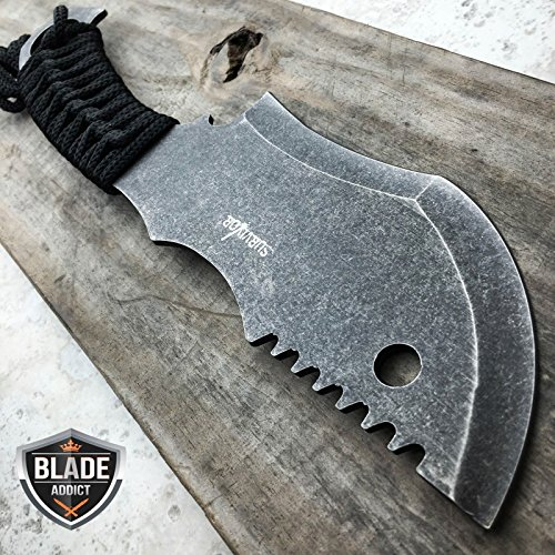 10.5 STONEWASH TACTICAL G'STORE SURVIVAL FULL TANG FIXED BLADE KNIFE HUNTING CLEAVER