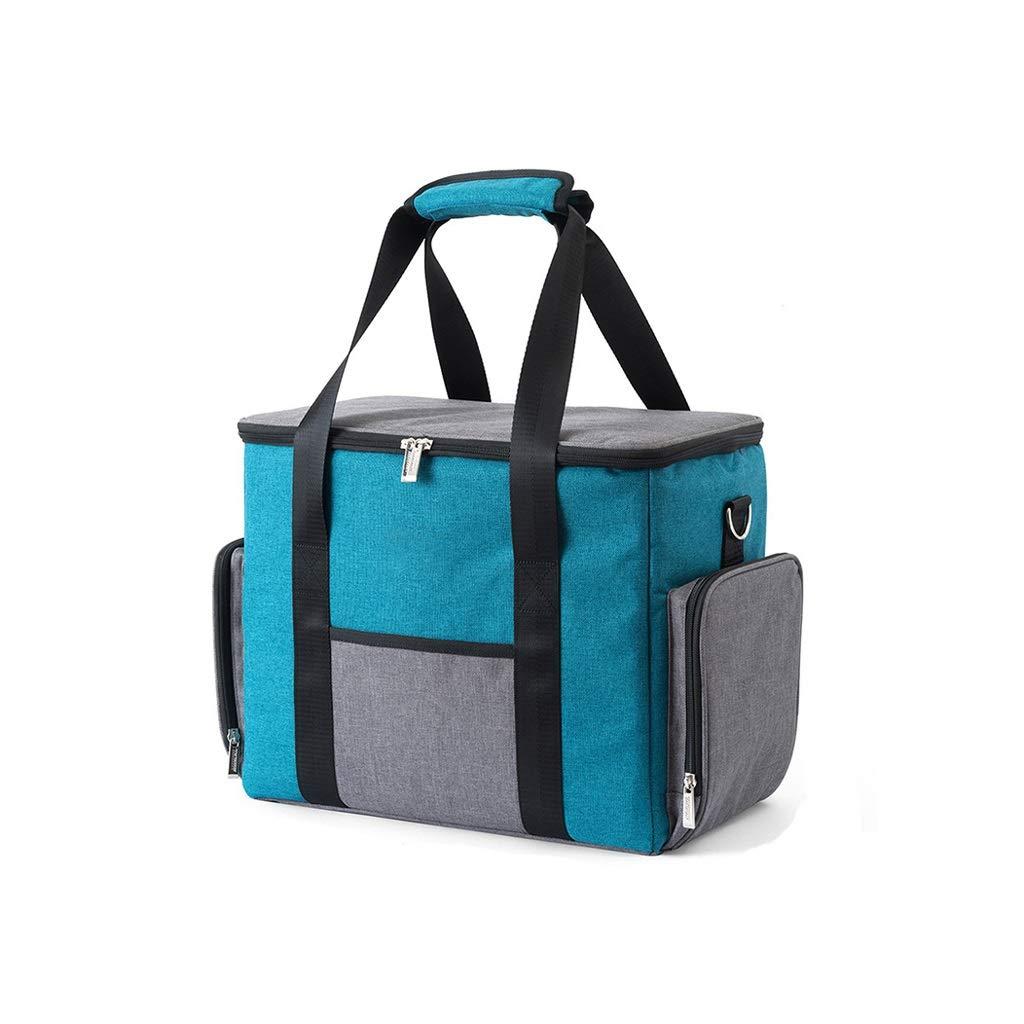 39.5 × 21.5 × 30.5cm FW Sac de pique-nique en plein air, sac de boîte à lunch portable, feuille d'aluminium épais (taille   19 × 19 × 15.5 (7.5) cm)