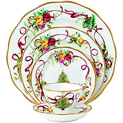 Click for Royal Albert Old Country Roses Christmas Tree Place Setting, 5-Piece