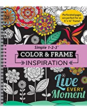 Color & Frame - Inspiration (Adult Coloring Book)