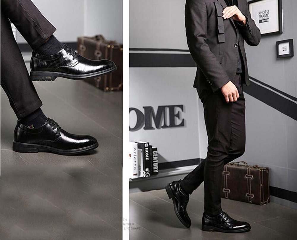 GLSHI Herren Business Casual Arbeitsschuhe Arbeitsschuhe Arbeitsschuhe Formelle Schuhe New Fashion Schuhe Schwarz Braun 4943ca