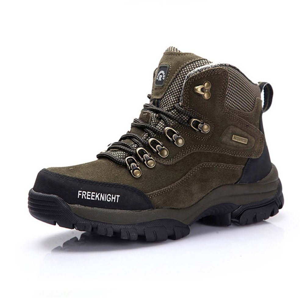 Emansmoer Herren High-Top Wildleder Wasserdicht Atmungsaktiv Outdoor Stiefel Sport Camping Wandern Trekking Trail Schuhe