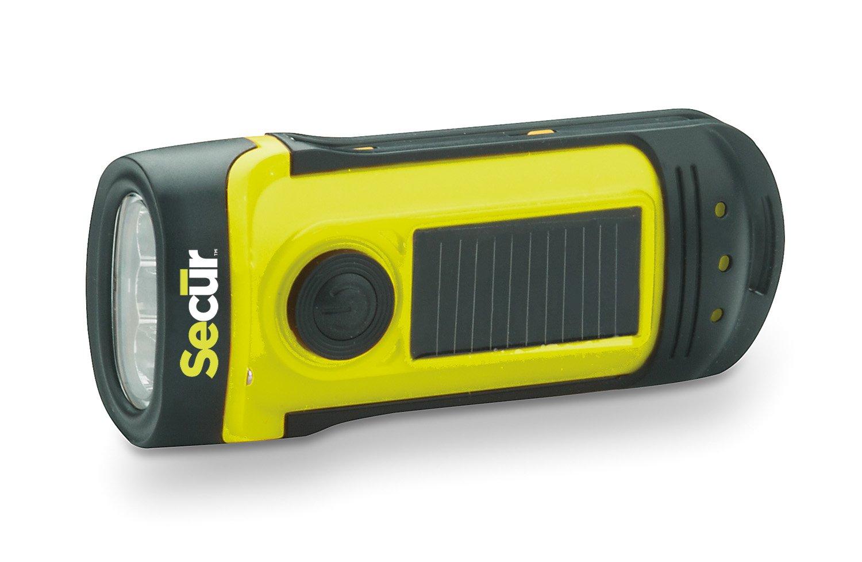 Secur 1 x Solar/Dynamo LED-Taschenlampe