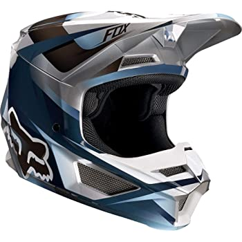 2019 Fox Racing V1 Motif Mens Off-Road Motorcycle Helmet - Blue/Gray / X-Large
