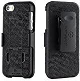 WizGear Shell Holster Combo Case for Apple iPhone Se/5/5S with Kick-Stand and Belt Clip - (Fits Att, Verizon, T-Mobile Sprint)